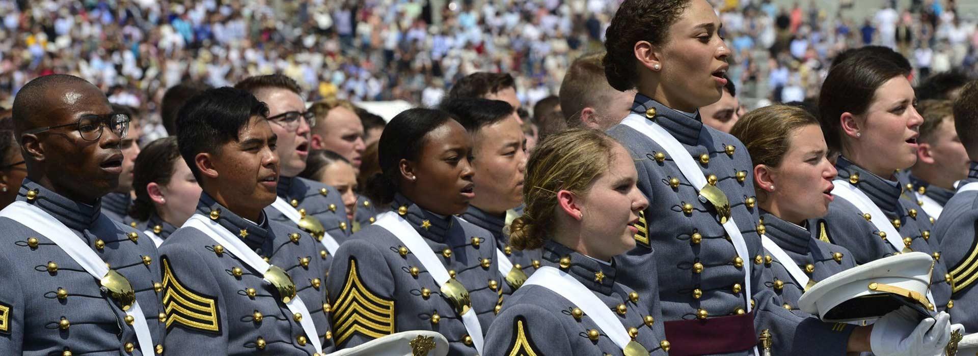 Military academy ceremony